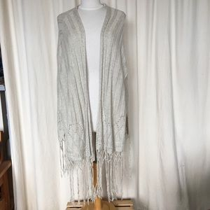 Boho shawl with tassles